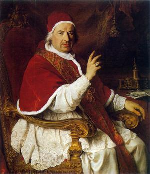 Påven Benedictus XIV 1741. Målning av Pierre Subleyras.