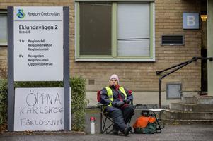 Britt Larsson, barnmorska som vill att förlossning i Karlskoga öppnas så fort det bara går.