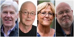 Nykvarnspolitikerna Leif Zetterberg, Mats Claesson, Märtha Dahlberg och Bob Wållberg.