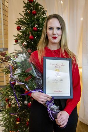 Årets Gävlebo 2019 blev Sabina Bär för hennes engagemang med Julhjälpen.