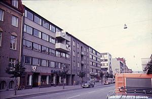 Sieverths musikhandel låg på Järnvägsgatan. Bildkälla: Örebro stadsarkiv, fotograf:Okänd fotograf