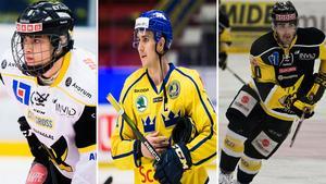Kristians Rubins, Mikael Backlund och Damien Fleury är tre spelare som deltar i VM, och har koppling till Västmanland.Bild: Bildbyrån
