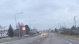 Olyckan skedde på riksväg 90 i höjd med OKQ8 i Kramfors.