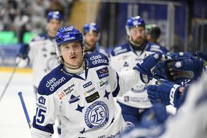 Johan Porsberger blev matchvinnare för Leksand med sitt förlängningsmål. (Arkivbild)