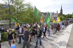 Många valde att delta i paraden.