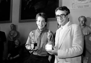 Tom Hulce och Miloš Forman 1985. Foto: Gianni Foggia/AP