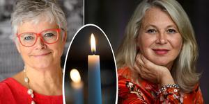 Karin Alfredsson och Helena von Zweigbergk är bokade till vårens författarkvällar på Svalbo. Foto: Fredrik Sandberg / TT / Henrik Montgomery / SCANPIX (bilden är ett montage)