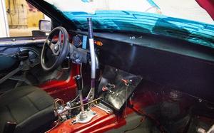 Uppgraderingen inför kommande säsong på Johan Anderssons bil ligger i fjädring samt en sekventiell låda.