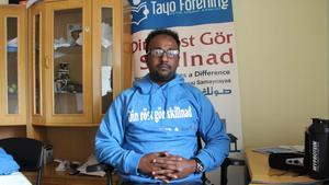 Abdirahman Ali är ledare för föreningen Tayos projekt att få invandrare att gå och rösta i valet.