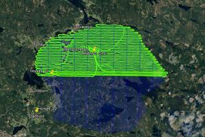SGU:s egna karta över vilket område som redan genomsökts.