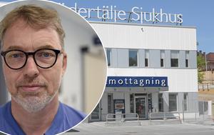 Bengt Cederlund menar att läget är fortsatt kaotisk på Södertälje sjukhus. Foto: Södertälje sjukhus
