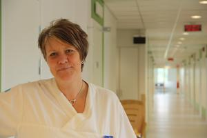 Helena Strandberg i de nya lokalerna på Lasarettet, dit vårdcentralen flyttar våren 2013.