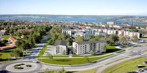 Den nya svanenmärkta bostadsrättsföreningen ska byggas i det gamla Tallåsenområdet vid korsningen Litsägen/Pampasvägen i Östersund.
