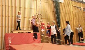 Barngympan i Mockfjärds sporthall har under året blivit populärare än någonsin tidigare.