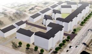 En bild från det detaljplaneförslag kommunen jobbat med. Illustration: Borlänge kommun.