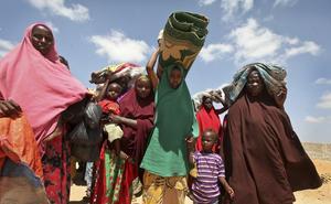 En app, framtagen av svensk-somalier, kan hjälpa personer som drabbats av torka att hitta till ställen där det finns mat och vatten.