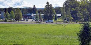 I dagsläget ser det ut som att det här området mellan förskolan i Högsveden och Mockfjärdsskolan blir  platsen för demensboendet.
