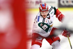 Moras Johan Persson gjorde sitt åttonde mål för säsongen. Men, det hjälpte inte till poäng. Foto: Josefine Loftenius/Bildbyrån.