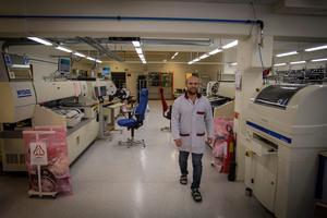 Gelabs lilla filial på Frösön där sex personer jobbar. Niklas Jönsson, elektroingenjör, är en av dem.