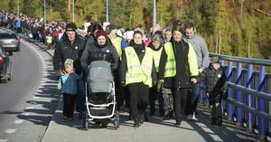 Sollefteåborna gick man ur huse för att visa sitt stöd för sjukhuset.