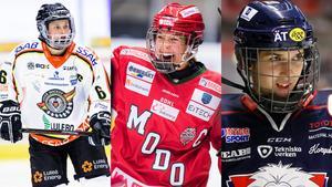 Jenni Hiirikoski, Erika Grahm och Denise Altmann – tre av spelarna som berättar om sina önskelistor. Foto: Bildbyrån.