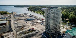 När allt är färdigbyggt i Norrtälje hamn  ska det finnas 2000 nya bostäder med plats för 4500-5000 personer att bo. Bild: Index Residence