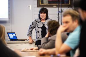 Förvaltningschefen Ulrika Hurdén var på plats för att svara på frågor.