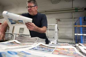 Tryckaren Tommy Larsson började på Arbetarbladet 1987.
