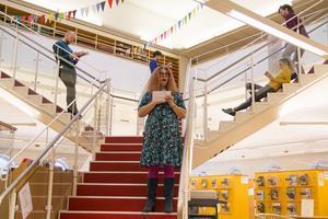 Det blev en dubbelinvigning för Anna Lindqvist, förvaltningschef för kultur och fritid.