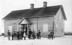 Skolan i Börtnan år 1919. Fotograf okänd