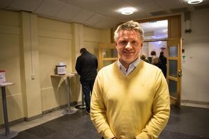 Fredrik Ahlgren var nöjd med uppslutningen på tisdagens informationsträff.