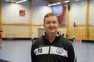 Nynäshamns IBK:s ordförande Tomas Olsson är glad för det nya samarbetet med Bedarö BK. Foto: Jesper Klingnell