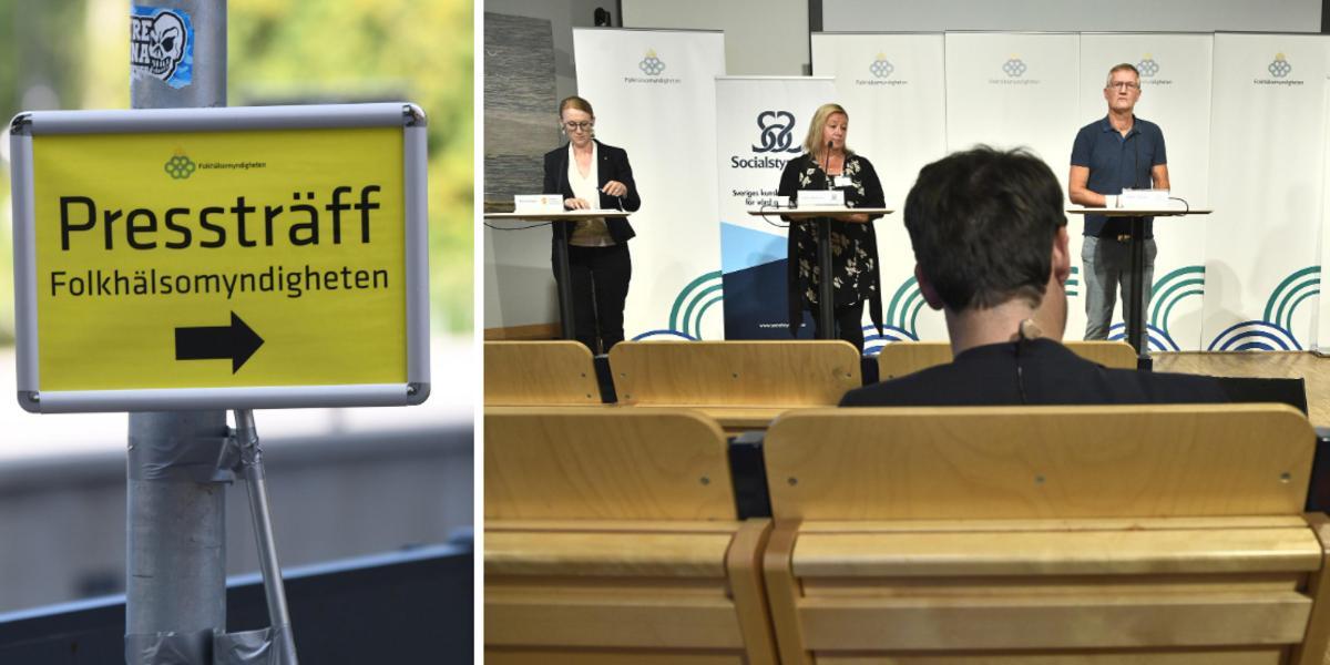 Live Tv 14 00 Folkhalsomyndigheten Om Coronalaget Se Presstraffen Har