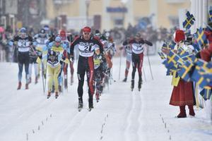 Andreas Nygaard på väg mot mål.