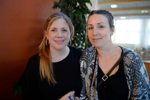 Jennie Dahlström och Catrin Widbro från Matfors.