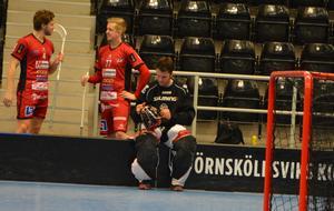 Världsmästarmålvakten Gunnar Domeij hade en bra dag när han gjorde comeback.