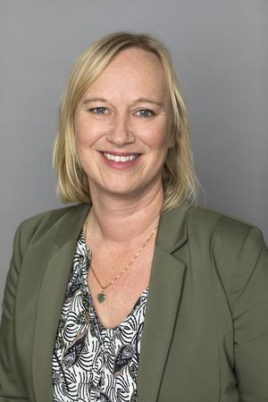 Ann-Sofie Gustavsson, ordförande, Vårdförbundet Örebro län. Pressfoto: Ulf Huett
