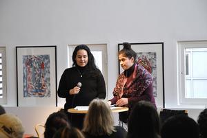Sofia Carvajal och Aouyana Aziz bjöd publiken på poesi.