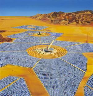 En solkraftstation. Är det framtiden? Foto: Ulf Lundén
