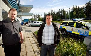Vericates produktionschef Hans Larsson och vd:n Torbjörn Bäckström kunde konstatera att det inte går att hålla utbidlningar i dag.
