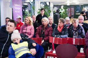 Ett tjugotal personer deltog i trygghetsvandringen i Söderhamn på torsdagskvällen.