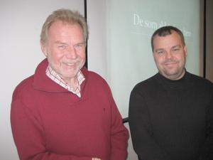 Alf Ingesson Thoor och Göran Jacobsson berättade om arbetet med boken