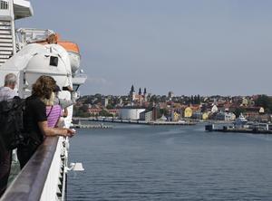 Gotlandsbåten närmar sig Visby.Foto: TT