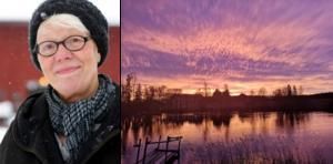 Rita Södergård fångade en solnedgång vid Sundbo på nyårsdagen. Hennes bild blev Månadens bild.
