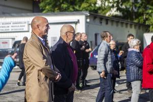 Söderhamns kommunchef Patrik Jakobsson och kommunstyrelsens vice ordförande Hans-Sundgren (M) var på plats.