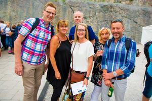 Hela gänget samlat! Från vänster: Mats Sonehag, Susanne Larsson, Hans Larsson, Marita Skoglund, Åsa Tiger och Mats Tiger inför spelningen.