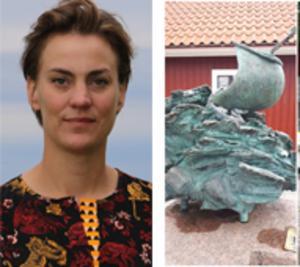 Kommunalrådet Caroline Dieker i Askersund svarar Mats Bergman om Richard Brixels skulptur.