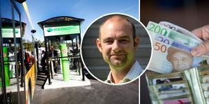 Det finns i dag en biogasmack på Sörby Urfjäll och en i Forsbacka. En tredje planeras vid Teknikparken i Gävle. – Vi behöver extra pengar för att kunna göra nödvändiga investeringar, säger Tomas Engelmark, L, styrelseordförande för Gästrike ekogas.