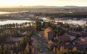 En översiktsbild på färdiga byggnaden. Foto: Morastrand