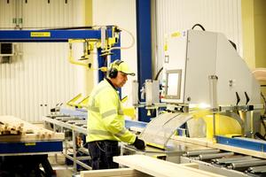 Bergvikens husfabrik har ljusa fina lokaler i Kilafors.